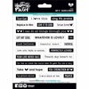Bella Blvd - Illustrated Faith - 5 x 7 Stickers - Say It - Black and White