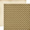 Carta Bella - Fall Blessings Collection - 12 x 12 Double Sided Paper - Burlap Chevron