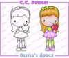 CC Designs - Cling Mounted Rubber Stamps - Olivia's Apple
