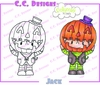 CC Designs - Pollycraft Collection - Halloween - Cling Mounted Rubber Stamps - Jack