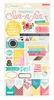 Crate Paper - Poolside Collection - Cardstock Stickers with Foil Accents - Accents