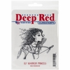 Deep Red Stamps - Cling Mounted Rubber Stamp - Elf Warrior Princess