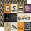 Echo Park - Hocus Pocus Collection - Halloween - 12 x 12 Double Sided Paper - 3 x 4 Journaling Cards