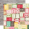 Echo Park - Jack and Jill Collection - Girl - 12 x 12 Double Sided Paper - Cute As A Button