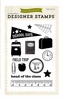 Echo Park - Teacher's Pet Collection - Clear Acrylic Stamps - School Days