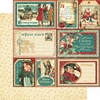 Graphic 45 - Christmas Carol Collection - 12 x 12 Double Sided Paper - Figgy Pudding