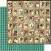 Graphic 45 - Raining Cats and Dogs Collection - 12 x 12 Double Sided Paper - Mr. Whiskers