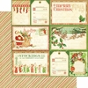Graphic 45 - Twas the Night Before Christmas Collection - 12 x 12 Double Sided Paper - Up on the Housetops