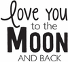 Hampton Art - Wood Mounted Stamps - To the Moon and Back