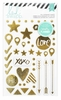 Heidi Swapp - Hello Beautiful Collection - Memory Planner - Chipboard Stickers - Foil Shapes, COMING SOON