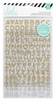Heidi Swapp - Hello Beautiful Collection - Memory Planner - Glitter Alphabet Stickers - Gold and Silver, COMING SOON