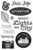 Hero Arts - BasicGrey - Second City Collection - Clear Acrylic Stamps - Bright Lights