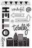 Hero Arts - BasicGrey - Second City Collection - Clear Acrylic Stamps - Totally