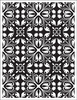 Hero Arts - BasicGrey - South Pacific Collection - Repositionable Rubber Stamps - Floral Wallpaper