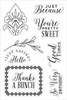 Hero Arts - BasicGrey - Tea Garden Collection - Clear Acrylic Stamps - You're Pretty Sweet
