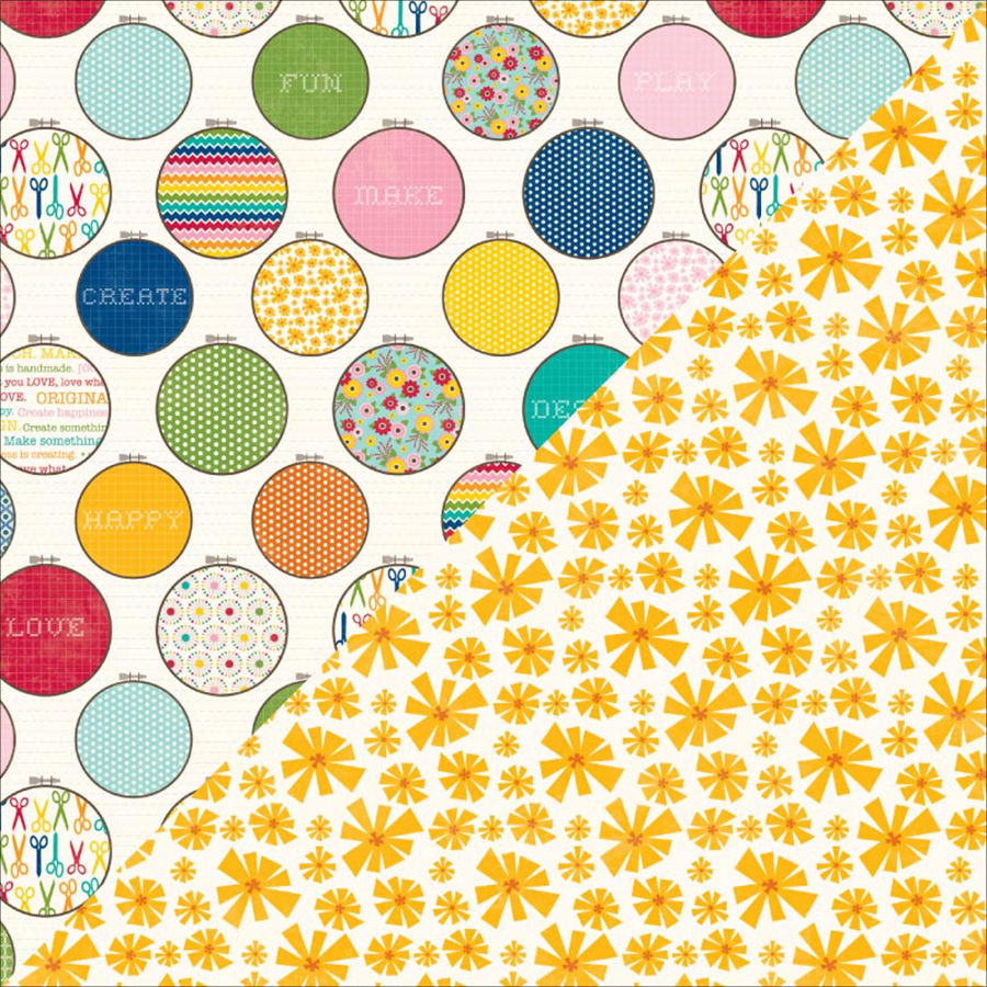 Jillibean Soup - Sew Sweet Sunshine Soup Collection - 12 x 12 Double Sided Paper - Sew Fun