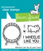 Lawn Fawn - Clear Acrylic Stamps - Wheelie Like You