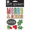 Me and My Big Ideas - Soft Spoken - Christmas - 3 Dimensional Stickers - Merry and Bright