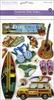 Multi Craft - 3D Chipboard Stickers - Day At The Beach