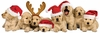Paper House Productions - 3 Dimensional Stickers with Glitter and Jewel Accents- Christmas Puppies