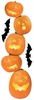 Paper House Productions - Halloween - 3 Dimensional Stickers with Glitter Accents- Jack 'O Lanterns 2