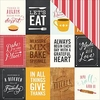 Pebbles - Harvest Collection - 12 x 12 Double Sided Paper - Let's Eat