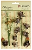 Petaloo - Botanica Collection - Floral Embellishments - Ephemera - Charcoal Grey