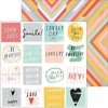 Pinkfresh Studio - Happy Things Collection - 12 x 12 Double Sided Paper - Happy Words