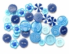 Queen and Company - Button Bouquet - Blue