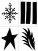 Ranger Ink - Dylusions Stencils - Shapes - Large