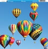 Reminisce - Customs Collection - 12 x 12 Single Sided Paper - Hot Air Balloons