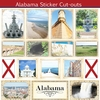 Scrapbook Customs - State Sightseeing Collection - 12 x 12 Sticker Cut Outs - Alabama
