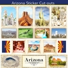 Scrapbook Customs - State Sightseeing Collection - 12 x 12 Sticker Cut Outs - Arizona