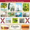 Scrapbook Customs - State Sightseeing Collection - 12 x 12 Sticker Cut Outs - Florida