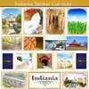 Scrapbook Customs - State Sightseeing Collection - 12 x 12 Sticker Cut Outs - Indiana
