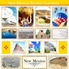 Scrapbook Customs - State Sightseeing Collection - 12 x 12 Sticker Cut Outs - New Mexico