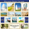 Scrapbook Customs - State Sightseeing Collection - 12 x 12 Sticker Cut Outs - Wisconsin