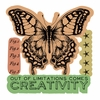 Sizzix - Tim Holtz - Alterations Collection - Framelits Die and repositionable Rubber Stamp Set - Limitations