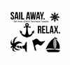 Technique Tuesday - Clear Acrylic Stamps - Sail Away