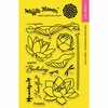 Waffle Flower Crafts - Clear Acrylic Stamps - Lotus