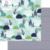 Websters Pages - Ocean Melody Collection - 12 x 12 Double Sided Paper - Deep Blue