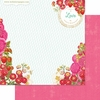 Websters Pages - Strawberry Fields Collection - 12 x 12 Double Sided Paper - Strawberry Patch