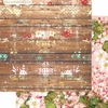 Websters Pages - Strawberry Fields Collection - 12 x 12 Double Sided Paper - Weathered