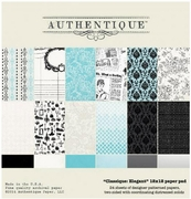 Authentique Elegant 12x12 Paper Pad