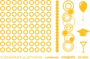 Bubbly Celebrations Letterpress Printing Plate Set