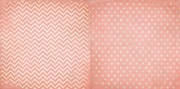 Coral Chevron 12x12 Patterned Cardstock