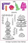 Cupcake Dies with Clear Stamps - Spellbinders Shapeabilities