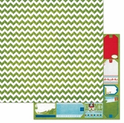 Elf Magic Chevron 12x12 Paper *