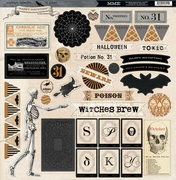 Happy Haunting 12x12 Chipboard Accessories
