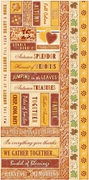 Harvest Spice Word Strip Cardstock Stickers